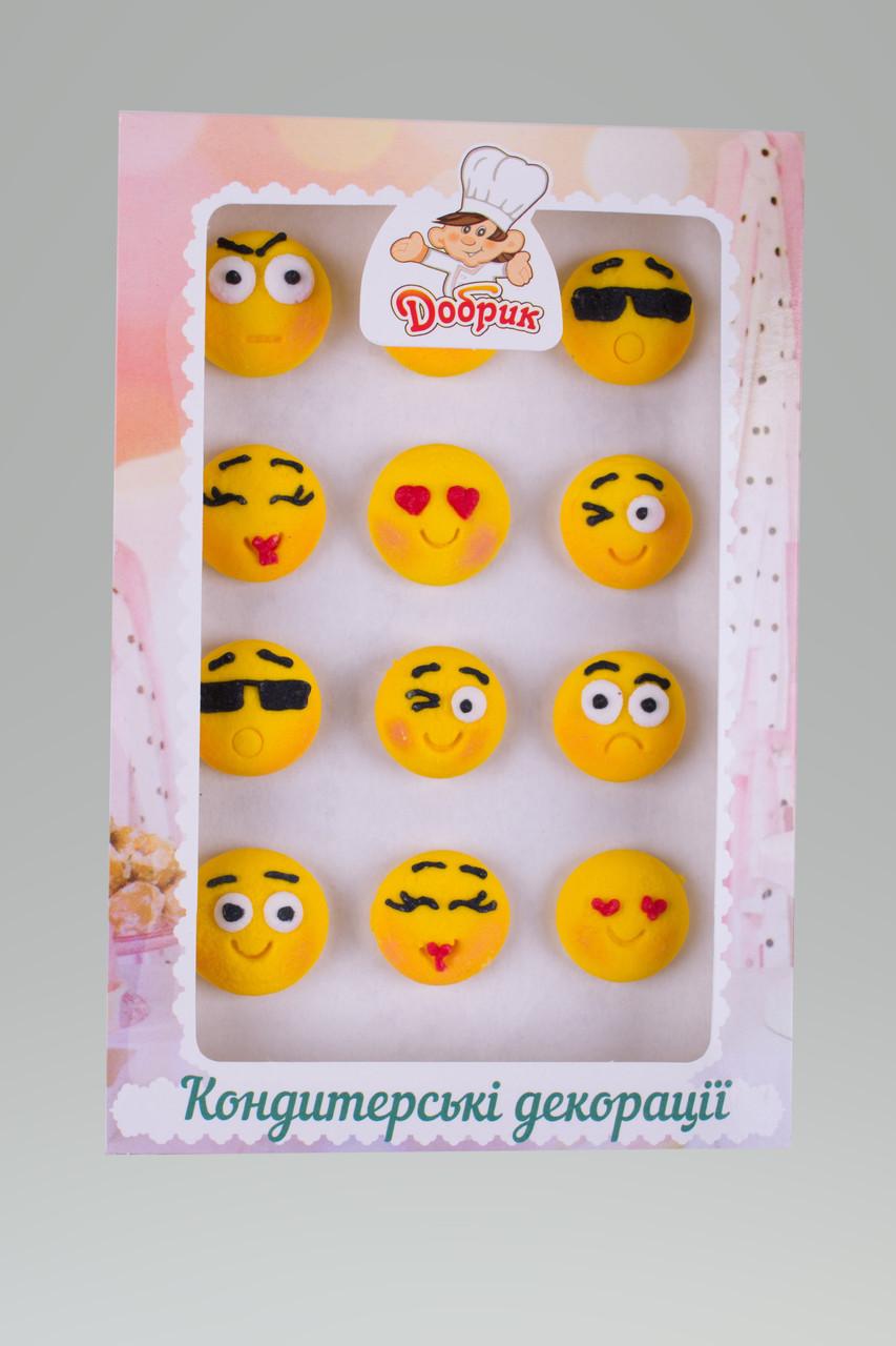 Декор кондитерський Добрик Набір Смайлики №1 15 шт./ящ.