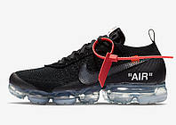 Кроссовки Off-White x Nike Air VaporMax ''Black'' ( реплика А+++), фото 1