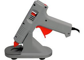 Клеевой пистолет с регулировкой температуры, 100W - 220V, с подставкой// MTX