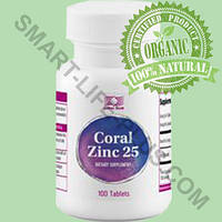 Корал Цинк 25 (Coral Zinc 25) - для восстановления гормонального баланса, потенции, прогестерона