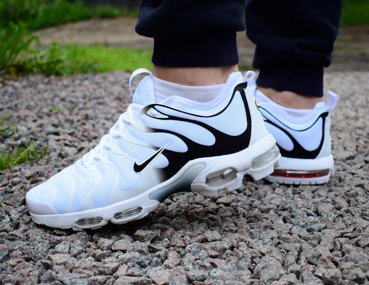 65298e54 Nike Air Max TN Plus white кроссовки мужские найк аир макс тн плюс белые -  Verona24