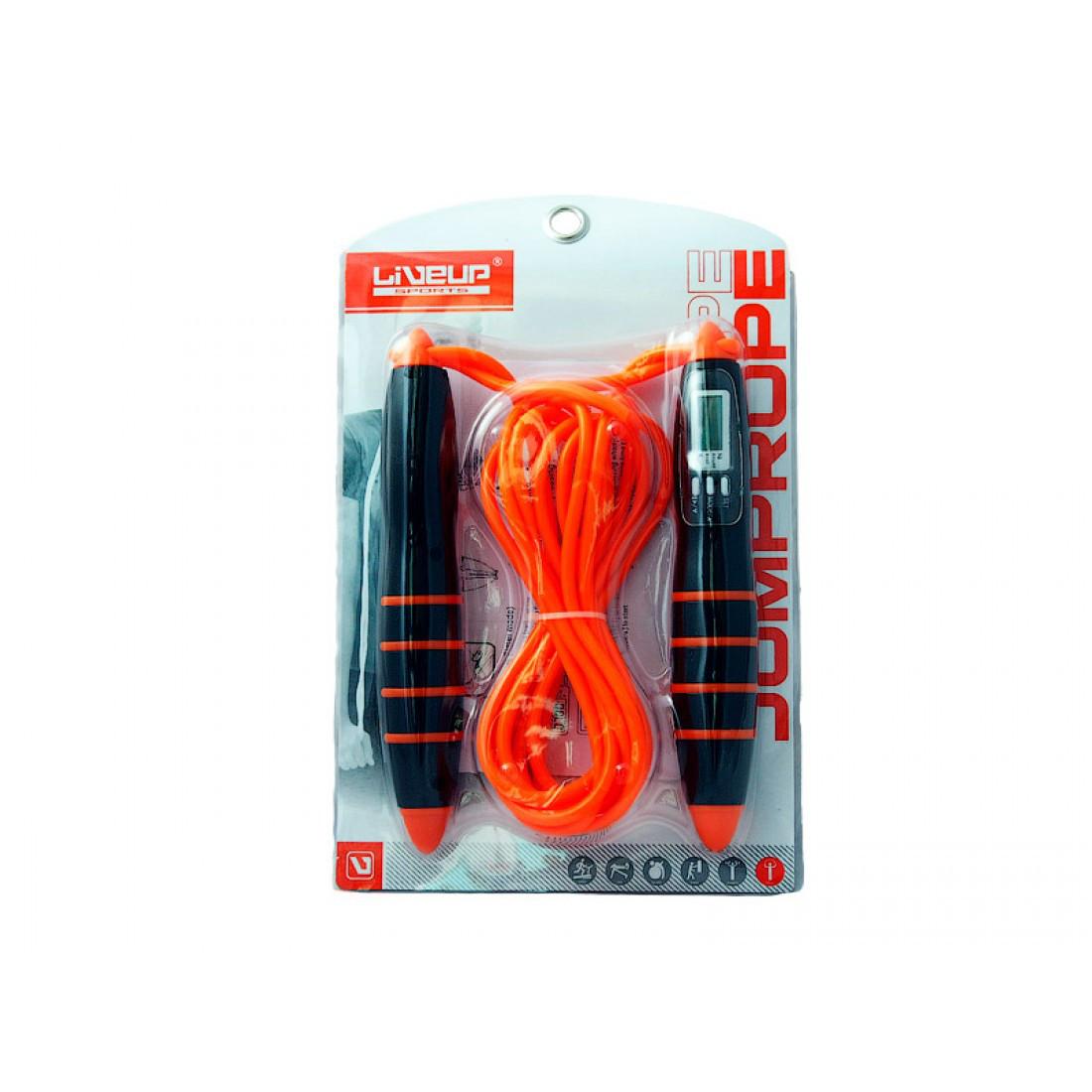 Скакалка с электронным счетчиком LiveUp PVC CABLE JUMPROPE