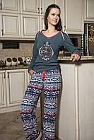 Женская пижама Shirly 5856, костюм домашний с повязкой на глаза для сна