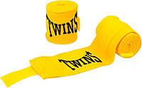 Бинти боксерські бавовна з еластаном Twins MA-5466 3м жовті