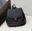 Рюкзак женский Viktoria кожзам городской Черный, фото 2