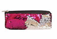 Пенал косметичка KIDIS для девочек на 1 отделение из двухсторонних паеток с подкладкой 19,5*7,5см