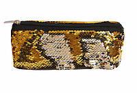 Пенал-косметичка Kidis из двухсторонних паеток с подкладкой 19,5*7,5см