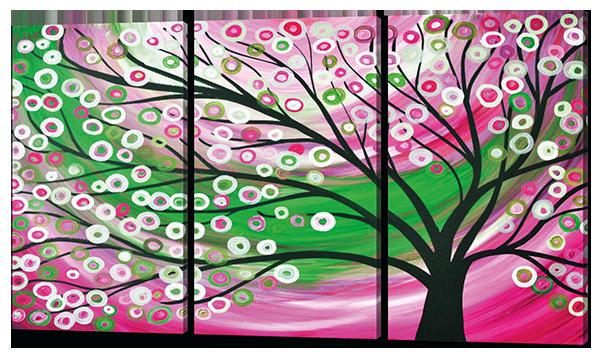 Модульная картина Дерево.Фентези