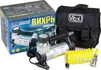 Компрессор для накачивания шин Vitol,КА-В12070,Вихрь (прикур, шланг 2м/провод 2,7м) 35л/м