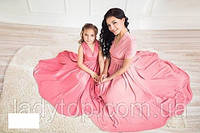 Женское-детское летнее ПЛАТЬЕ FAMILY LOOK Мама-Дочка, фото 1