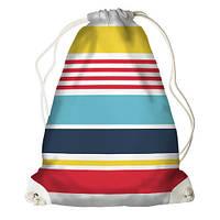 Рюкзак-торба у яскраву смужку
