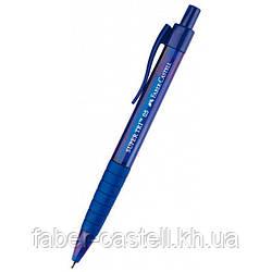 Ручка шариковая Faber-Castell SUPER TRI автоматическая, синяя, 0,5 мм, 246051