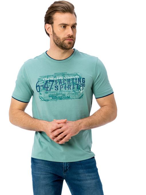 мужская футболка LC Waikiki / ЛС Вайкики цвета морской волны 6-47