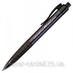 Ручка шариковая Faber-Castell SUPER TRI автоматическая, черная, 0,5 мм, 246099