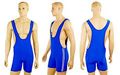 Трико для борьбы и тяжелой атлетики двустороннее подростковое CO-3043 (красный-синий, S-XL-рост 130-160)