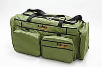 Сумка карповая большая 98л 4 накладных кармана Fisher