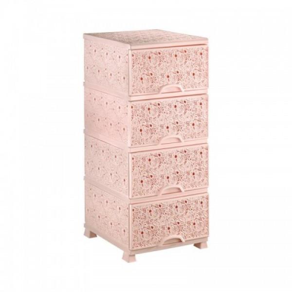 Пластиковый комод Elif Plastik (розовый)