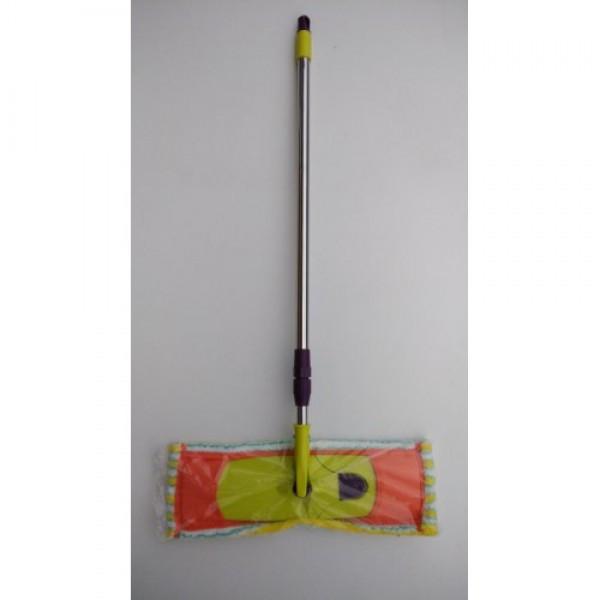 Швабра-полотер с насадкой микрофибра (защелка)