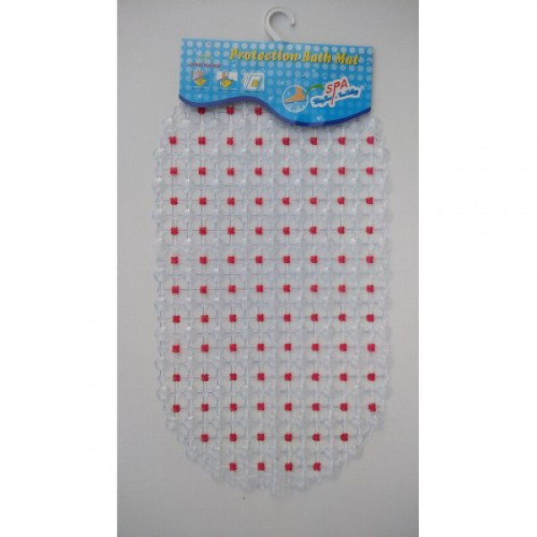 Силиконовый коврик в ванную 1-7-10 (красный)