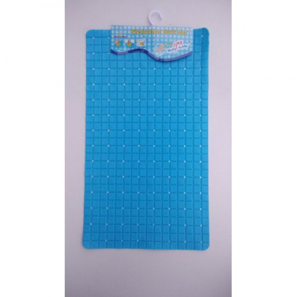 Силиконовый коврик в ванную 3-3-4 (синий)