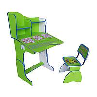 Парта Растишка RUS Парта + стул E2071 GREEN Веселой учебы