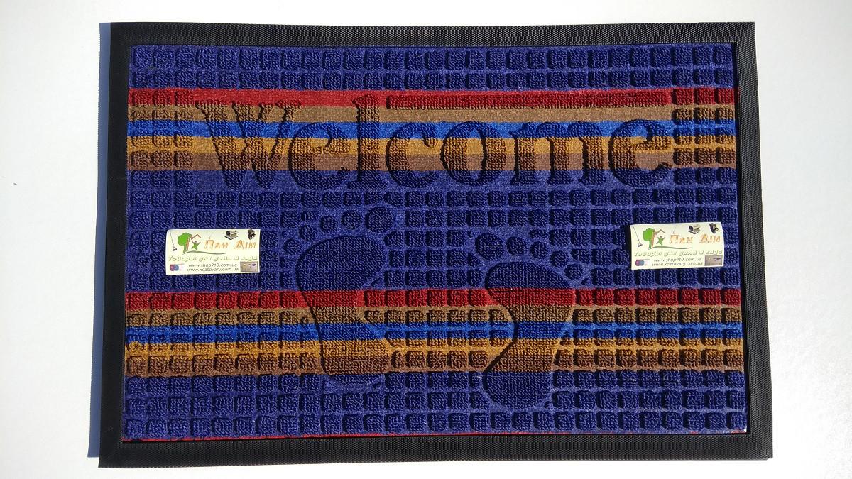 Входной коврик на резиновой основе 40*60 (цветной) КВЦ-0108