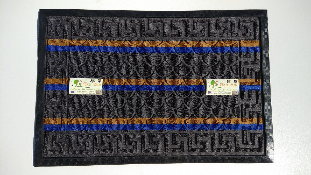 Входной коврик на резиновой основе 40*60 (цветной) КВЦ-0110