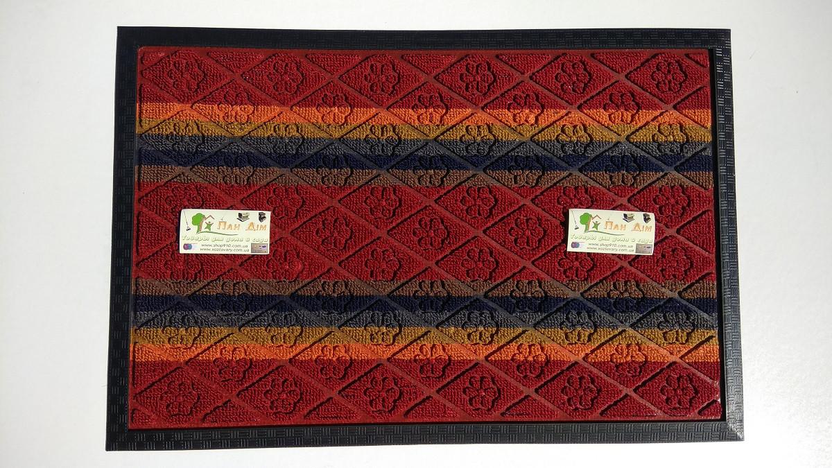 Входной коврик на резиновой основе 40*60 (цветной) КВЦ-0122