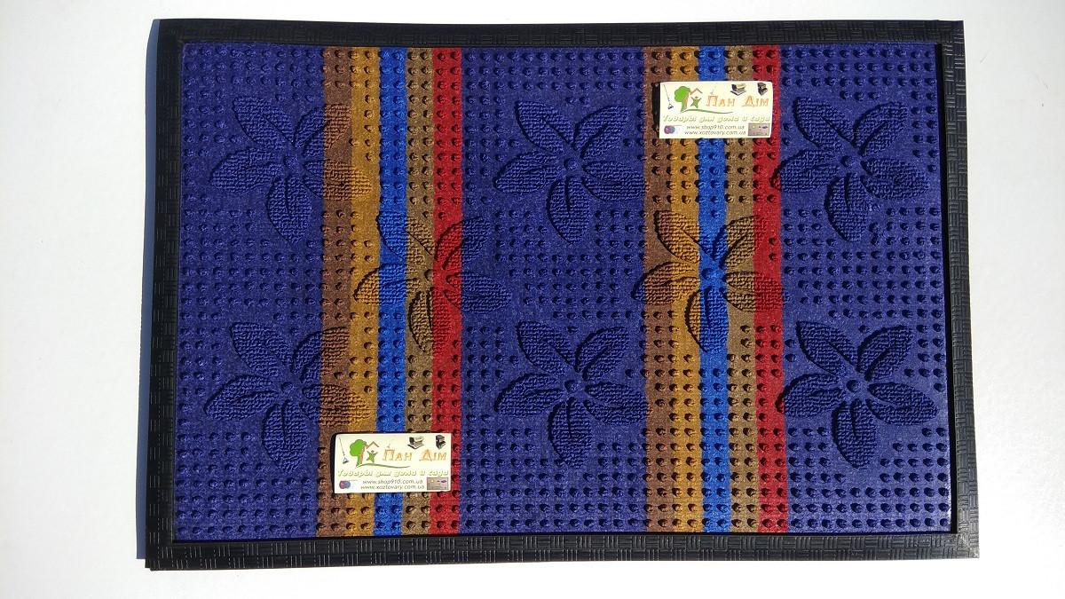 Входной коврик на резиновой основе 40*60 (цветной) КВЦ-0125