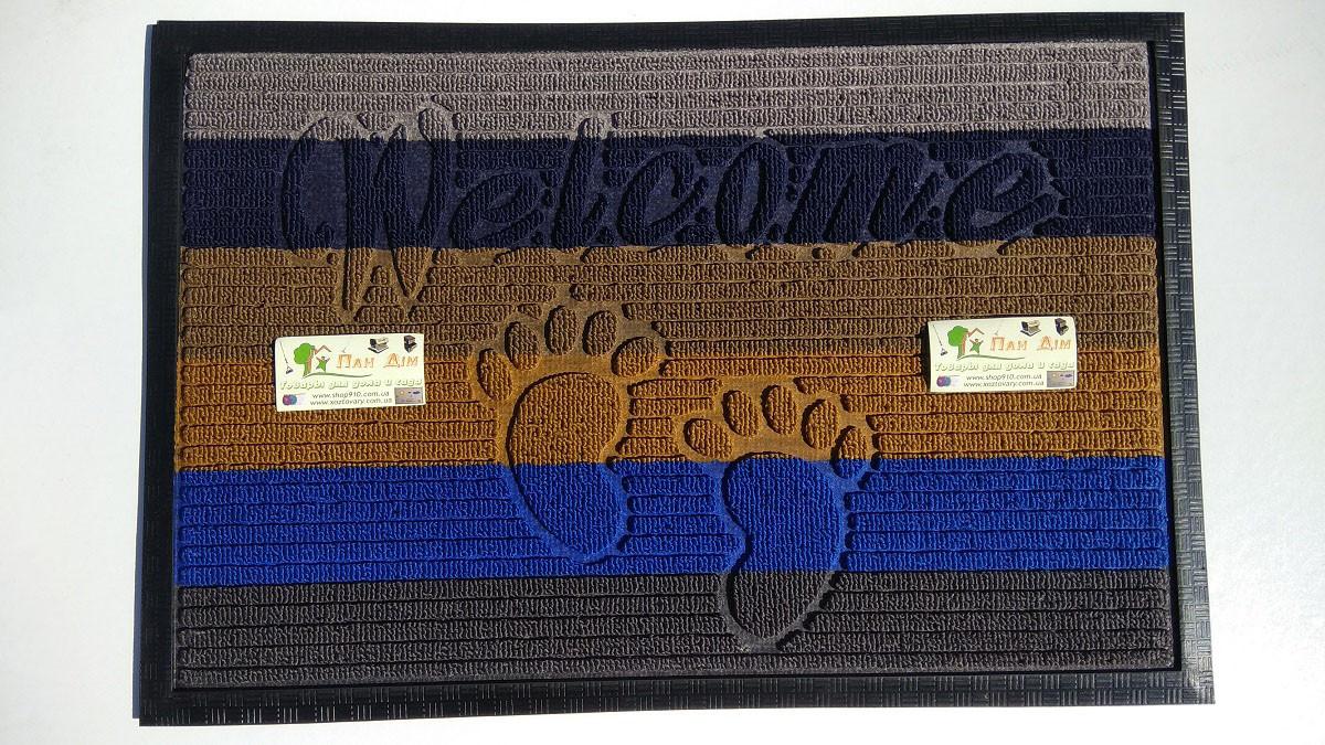 Входной коврик на резиновой основе 40*60 (цветной) КВЦ-0126