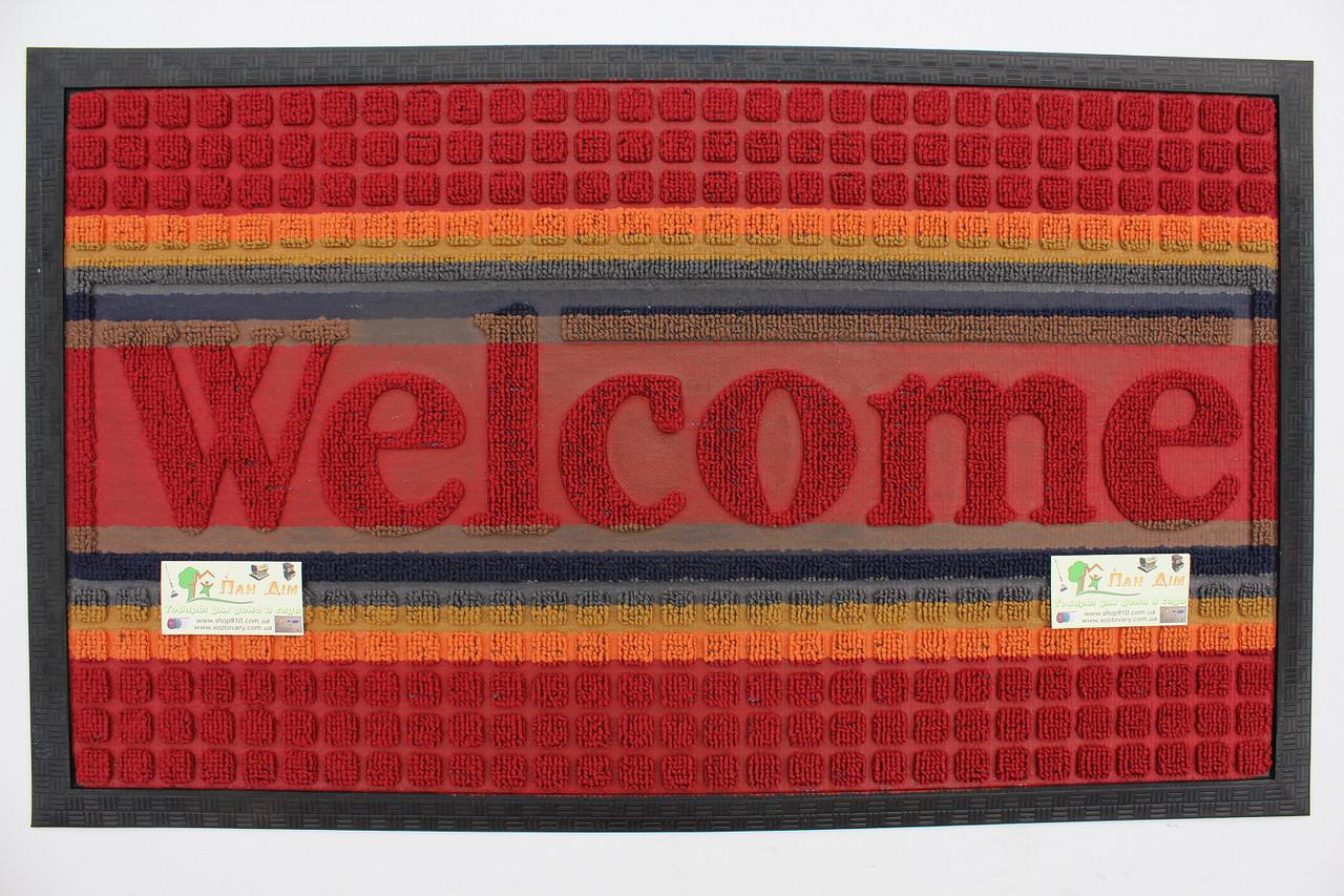 Входной коврик на резиновой основе 45*75 (цветной) КВЦ-0138