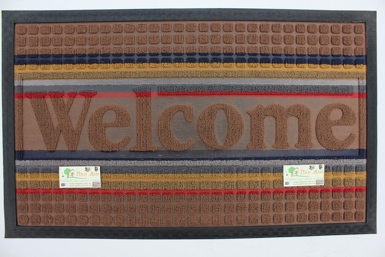Входной коврик на резиновой основе 45*75 (цветной) КВЦ-0146