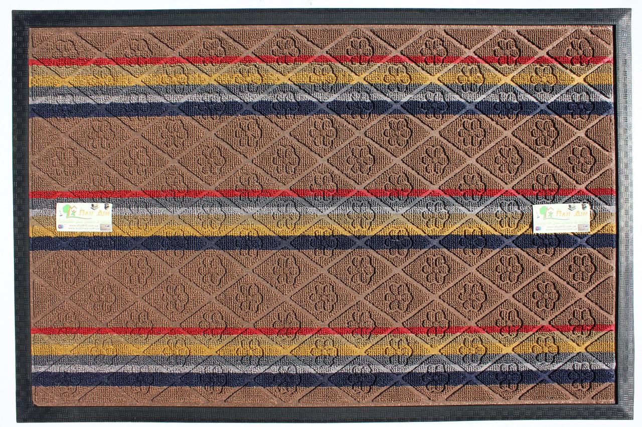 Входной коврик на резиновой основе 60*90 (цветной) КВЦ-0168