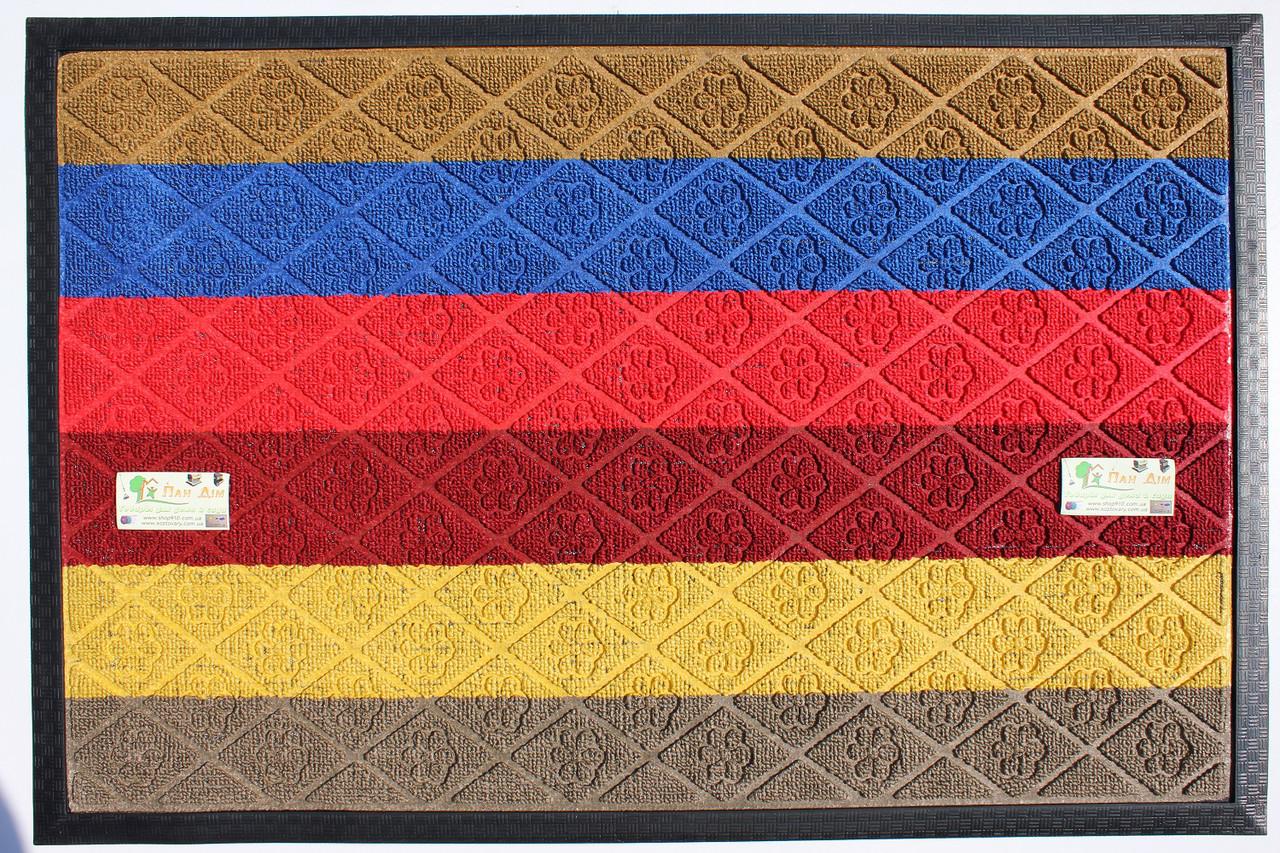 Входной коврик на резиновой основе 60*90 (цветной) КВЦ-0169