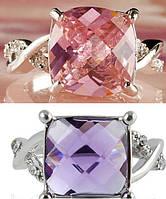 Кольцо с большим кристаллом 11 мм, фото 1