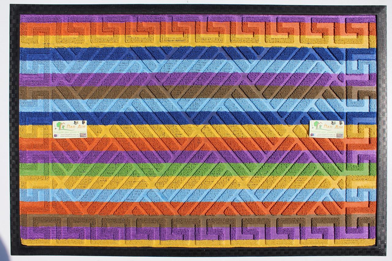 Входной коврик на резиновой основе 60*90 (цветной) КВЦ-0174