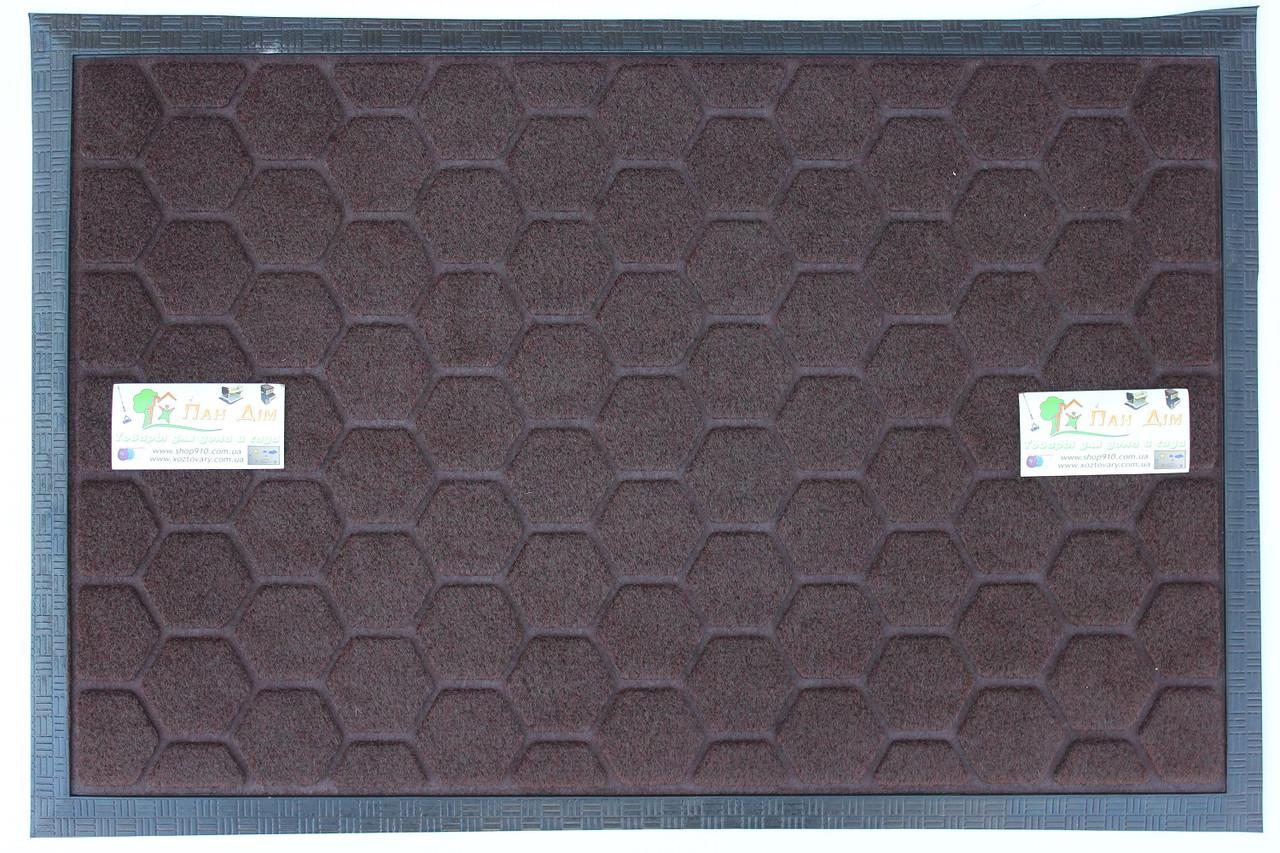 Придверный коврик на резиновой основе 40*60 КВ-0507