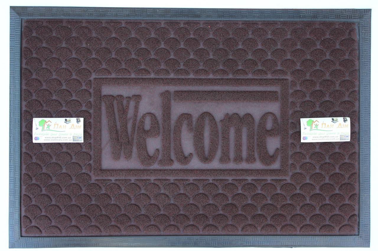 Придверный коврик на резиновой основе 40*60 КВ-0517
