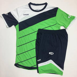 Футбольная форма Europaw 008 зелено-т.синяя, фото 2