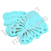 Декор бумажный Бабочки (уп. 24шт) голубой