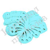 Декор бумажный Бабочки (уп. 24шт) голубой, фото 1