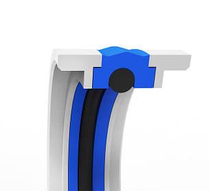 Двухстороннее уплотнение поршня (основа - полиуретан + кольцо O-RING, защитные кольца - POM)