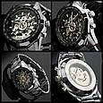Мужские Наручные Механические Часы Скелетон с Автоподзаводом, фото 9