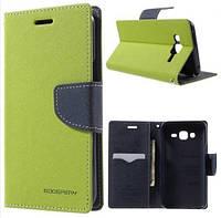 Чехол-книжка Goospery для Samsung Galaxy J2 (J200) Green