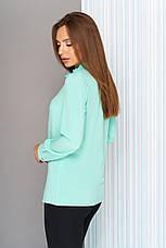 1fff2d4eb68 Красивая женская офисная блузка с рюшей по горловине
