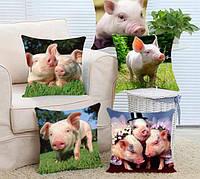 Подушка с картинкой свинки - подарок на новый год, фото 1