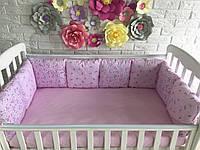 Защита в кроватку, бортики подушки «Зайчата»
