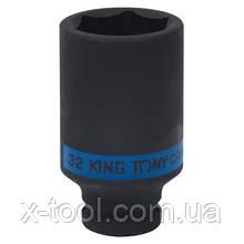 "Головка ударная длинная 1/2"" 32 мм KING TONY 443532M"