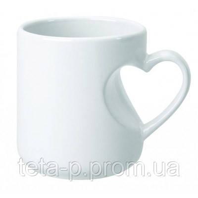 Чашка сублимационная ручка серце