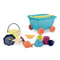 Набор для игры с песком и водой - ТЕЛЕЖКА МОРЕ (11 предметов), фото 1
